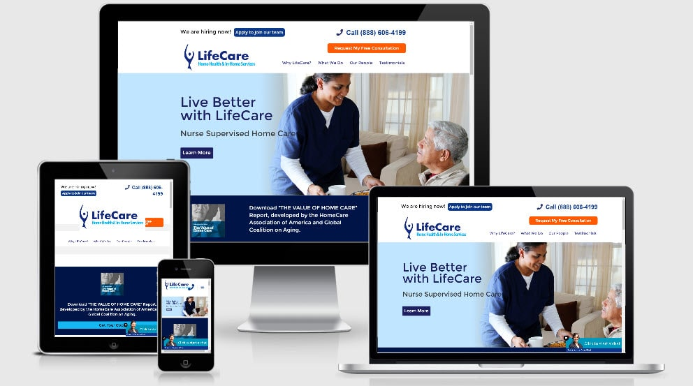 Affordable Home Care Web Design California