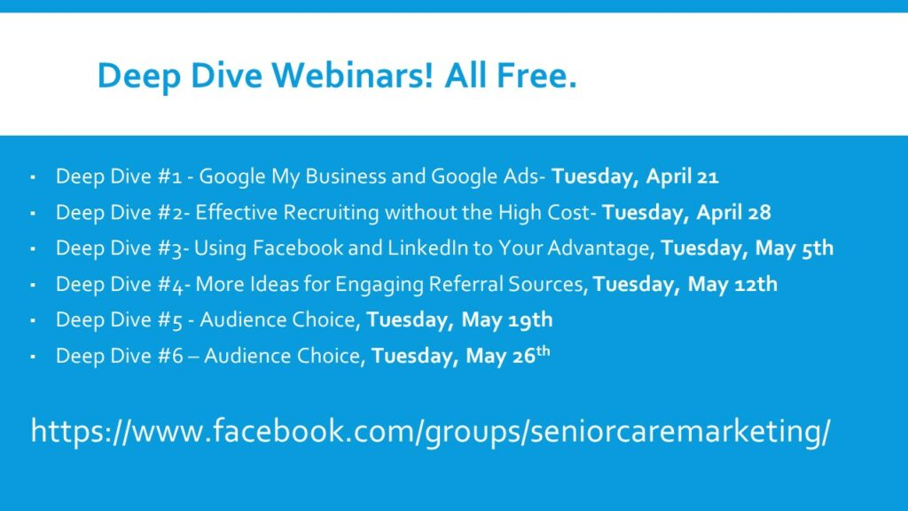 VIDEO REPLAY: 	HOW TO PIVOT YOUR SENIOR CARE MARKETING THROUGH A PANDEMIC 184