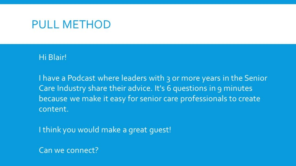 Senior Care Marketing via LinkedIn