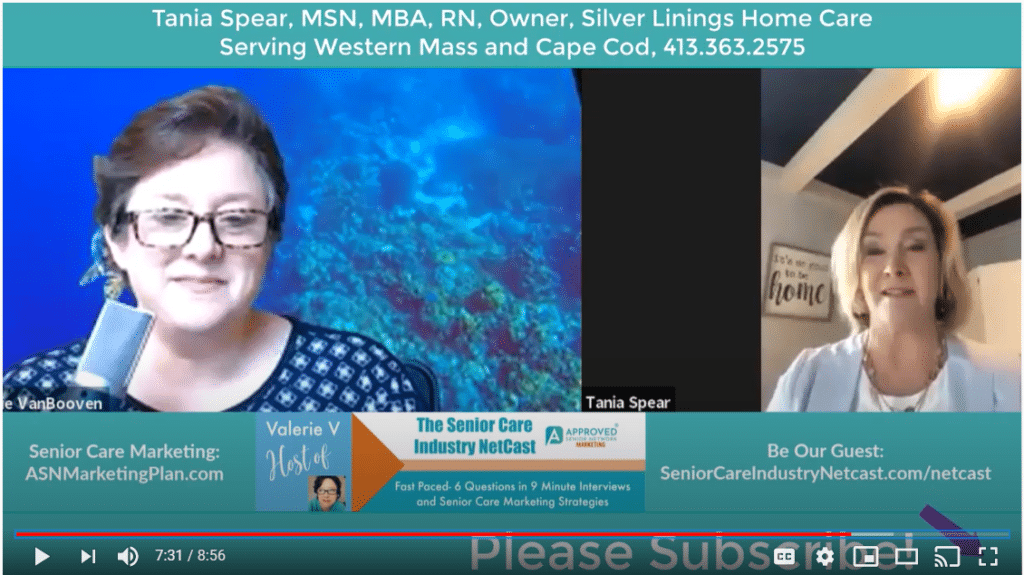 senior care industry netcast with tania spear silver linings home care western mass