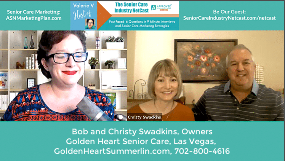 Bob & Christy Swadkins, Golden Heart Senior Care Las Vegas