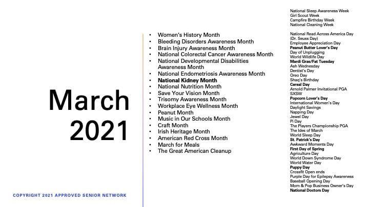 Home Care Marketing for March 2021
