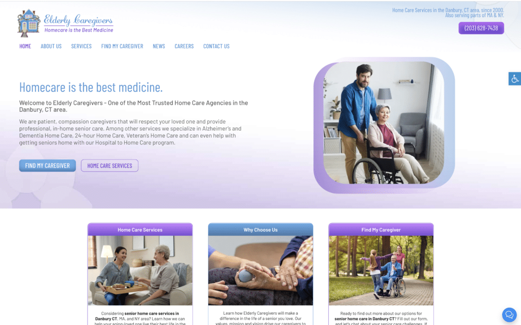 Home Care Website Design Missouri