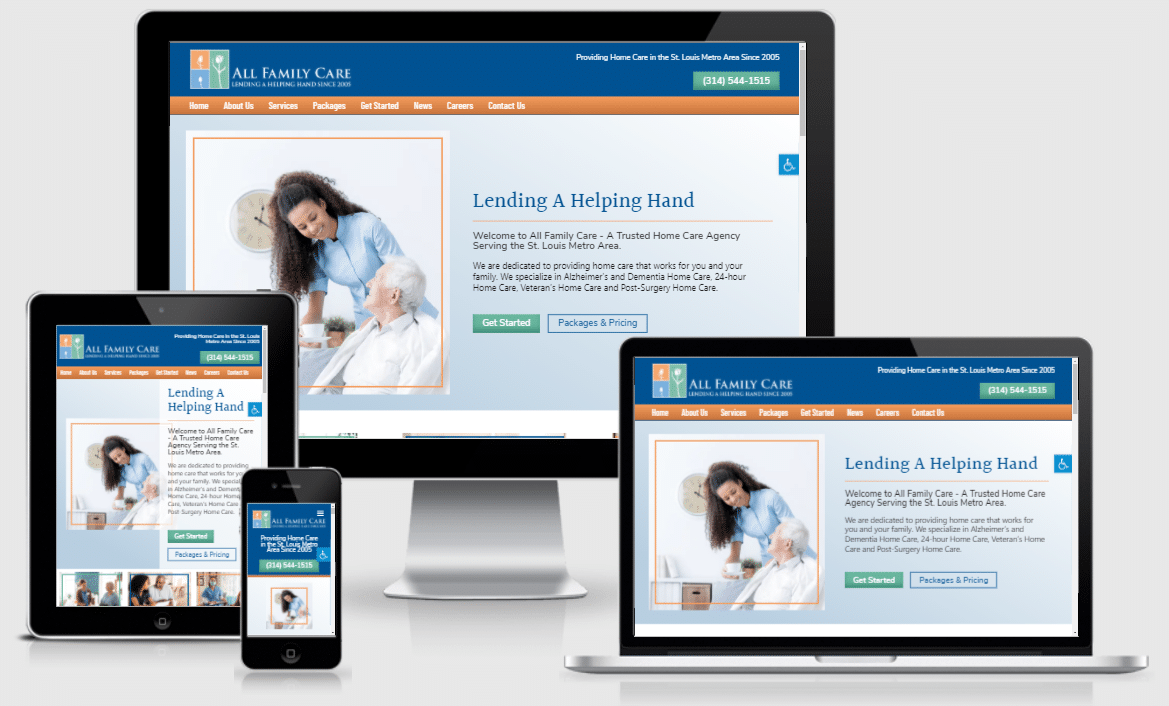 All Family Care New Home Care Website by ASN