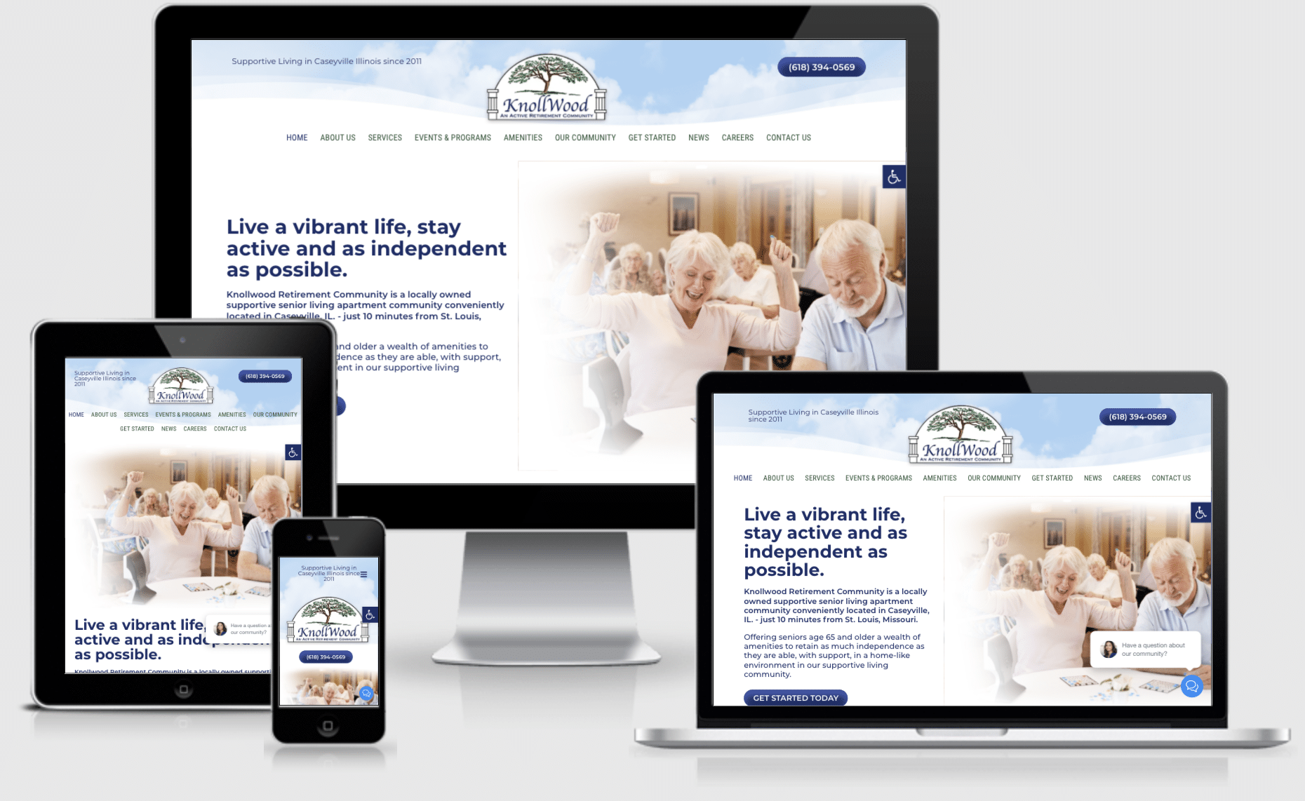Assisted Living Website by Approved Senior Network Marketing