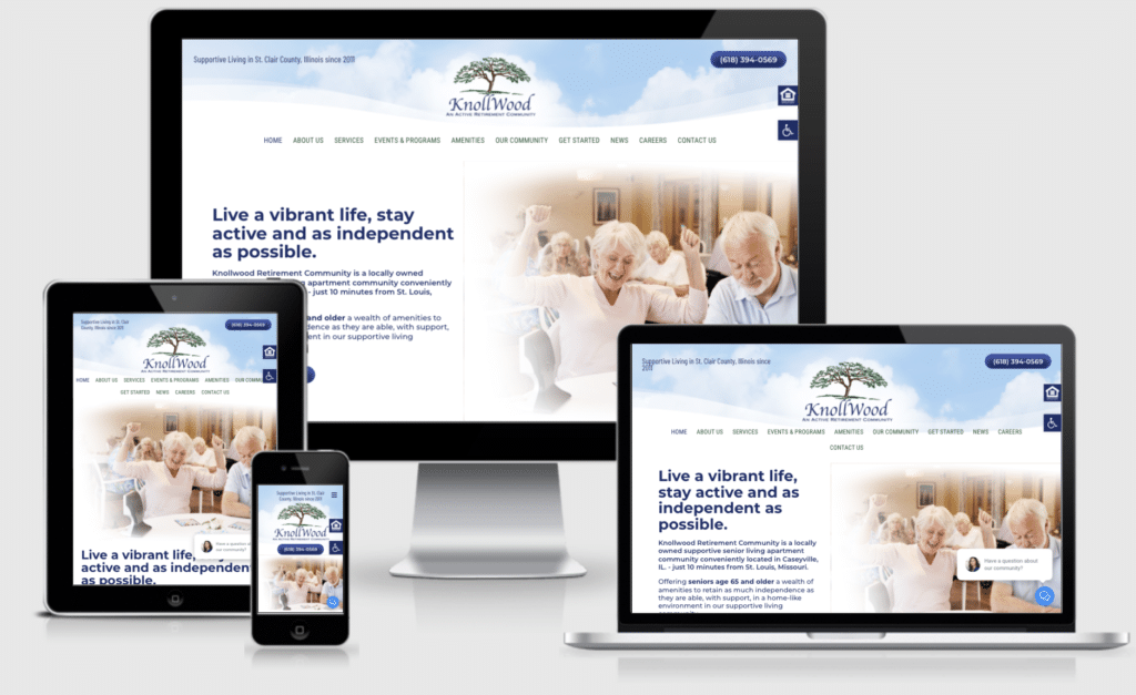 New Senior Care Website- Welcome Knollwood Active Retirement Living, St. Clair County IL 3