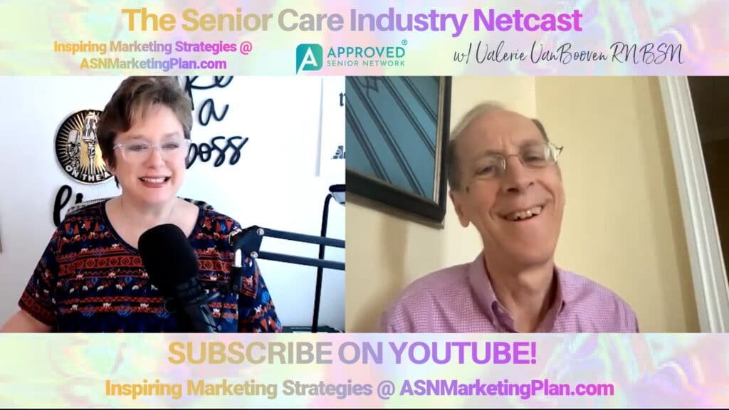 """Heard of Dan Cohen and the documentary """"Alive Inside""""? Meet him on the latest Senior Care Industry Netcast with Valerie VanBooven, right now! Watch."""