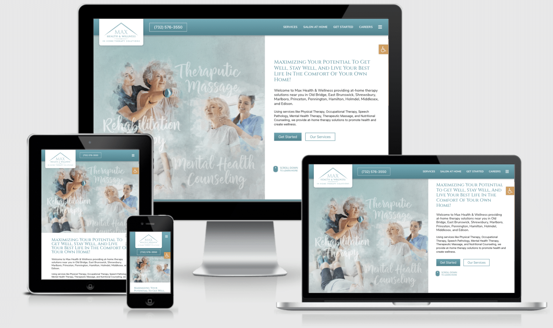 View our latest home care website design for Max Health and Wellness Group in Old Bridge, NJ! Great website, great team!