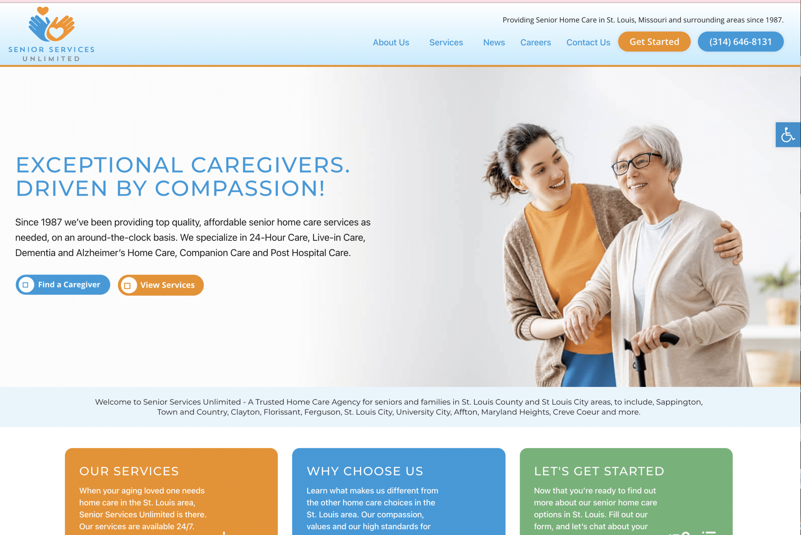 New Home Care Website Announcement! Senior Services Unlimited of St. Louis has an amazing new home car website. Learn how you can have a website like this!