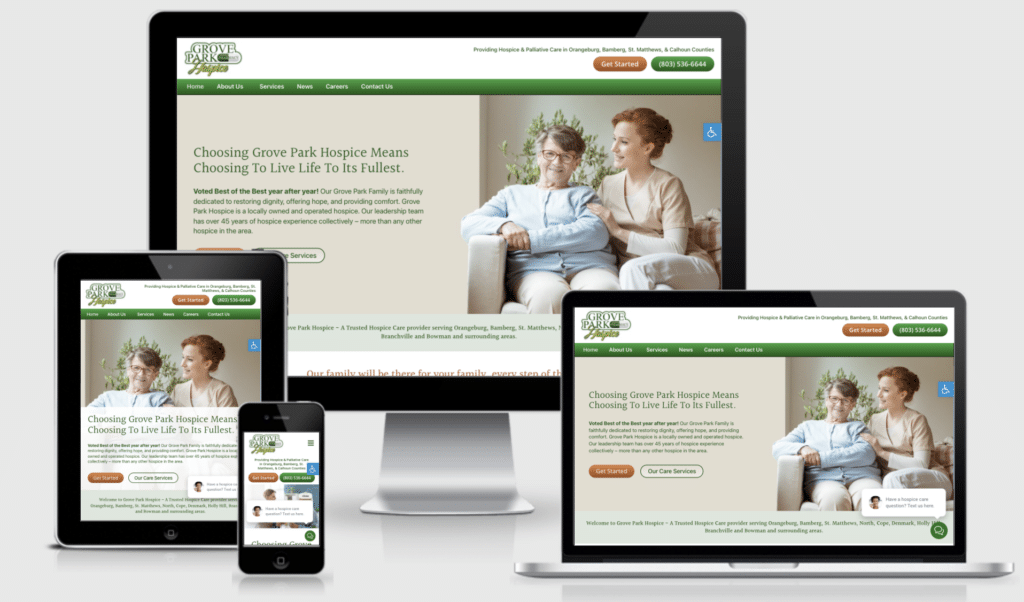 Hospice Care Website Development by Approved Senior Network Marketing
